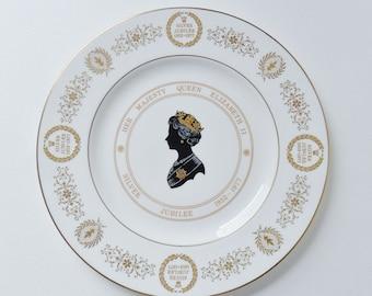 Coalport Queen Elizabeth 11 Fine Bone China Plate Silver Jubilee 1977 Ltd Ed British English Monarchy Royal Family