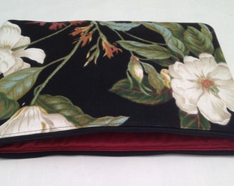 "SALE...MacBook 11"" padded sleeve  / MacBook 11"" with retina case  /   Made in Maine / magnolia floral"