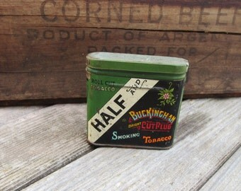 Vintage Buckingham Half & Half Tobacco Tin Container