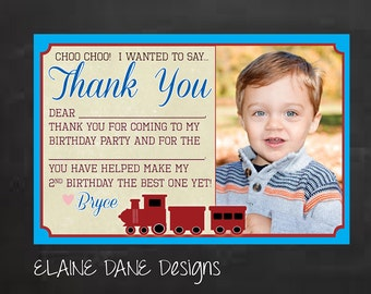 Vintage Train Birthday Party Thank You