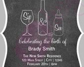 Printable Sip & See Invitation