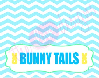 Easter Bunny Tails Treat Bag Topper Printable- *INSTANT DOWNLOAD!*