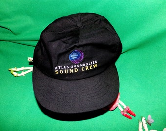 Atlas Soundolier Sound Crew Embroidered Baseball Cap Hat Vintage LOW SHIPPING