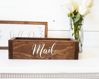 Mothers Day Gift, Office Mail Organizer, Mail Holder, Gift for Mom, Gift for Wife, Bridal Shower Gifts, Gift for Mom, Housewarming Gift