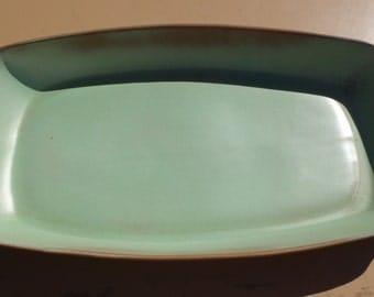 Vintage Frankoma 5P Platter in Prairie Green, Excellent Condition