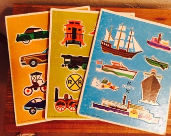 Adorable vintage  toddler tray puzzle