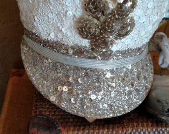 LAYAWAY FOR S.  Vintage Sequined Costume Hat