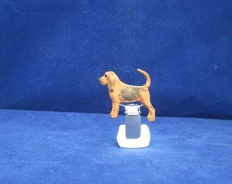 One of a Kind Bloodhound Dog Show Brooch / Ring Clip