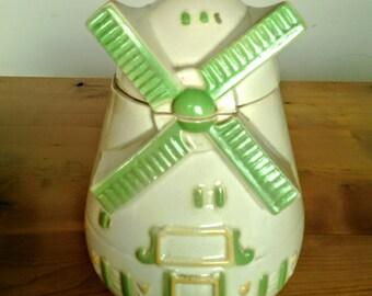 Vintage Windmill Cookie Jar Made By FAPCO