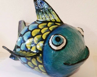 Paper Machè Decorative Fish
