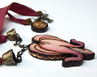 Bleeding Heart Necklace - Handmade & Eco friendly