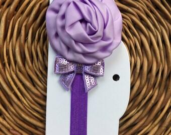 Purple Strechy dog collar adjustable