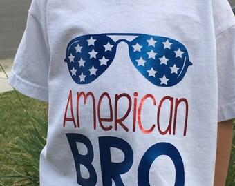 American BRO Sunglasses 4th of July America t-shirt