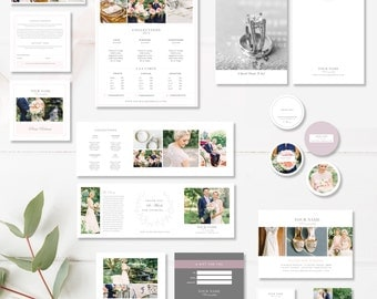 Photographer Marketing Set, Print Marketing Template Suite, Photo Marketing Templates -  INSTANT DOWNLOAD