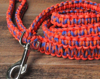 Red-Orange and Blue 6ft Dog Leash