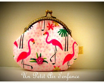 Coin purse pink Flemish