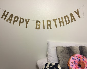 Happy Birthday Banner | birthday party banner, celebration banner, bday party banner, party banner, birthday
