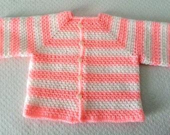 Baby Cardigan Crochet 3-6 months