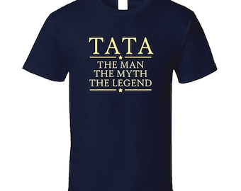 Tata Man Myth Legend T Shirt Grandpa Grandfather Poppa Papi T Shirt Tee Shirt Gift Fathers day birthday gift for him