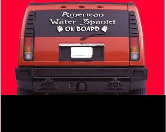 American Water Spaniel On Board Dog Vinyl Decal