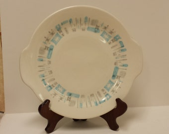 """Royal China, """"Blue Heaven"""" Chop Plate/Round Platter/Cake Plate; Made in USA"""