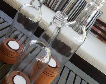 Wine Bottle Tealight Holders