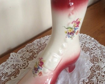 Vintage staffordshire pottery boot