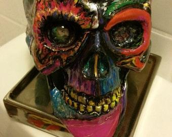 Hand painted skull