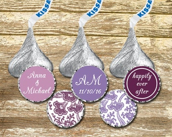 Hershey Kisses Stickers Wedding