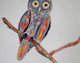 Owl Card Gift Card Greetings Cards Blank Card Birthday Card Bird Card Clarence the Owl Bird Artwork FREE POSTAGE AUSTRALIA