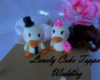 Lovely wedding cake topper ducklings