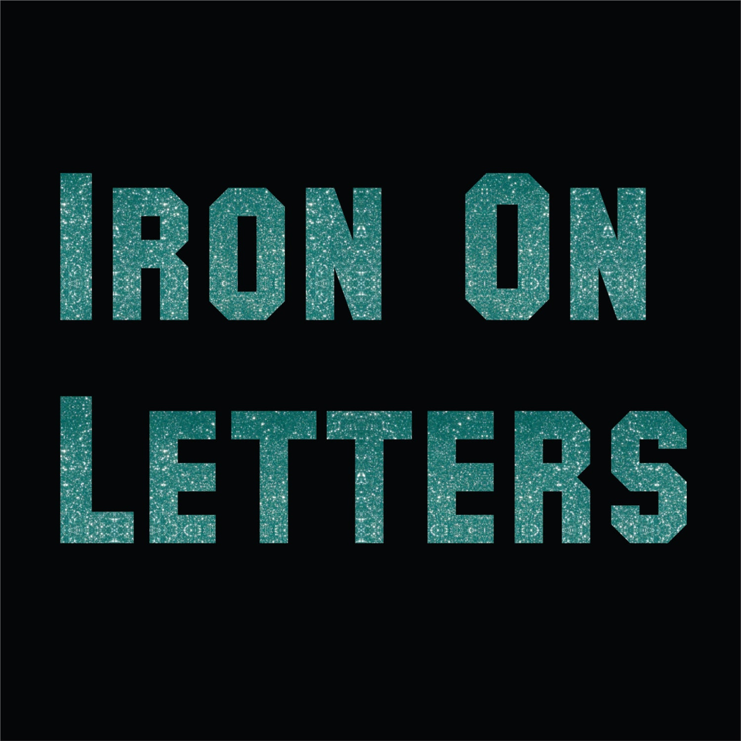 glitter matte iron on letters collegiate athletic letters numbers and