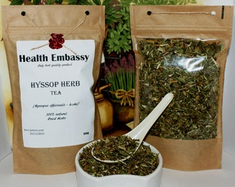 Hyssop Herb Tea (Hyssopus officinalis - herba) 50g - Health Embassy - Organic