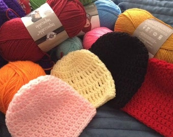 Solid Color Newborn Hats