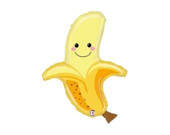 Banana Fruit Balloon - Fruitti Tutti party mylar decor