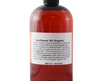 Sunflower Oil, USDA Certified Organic