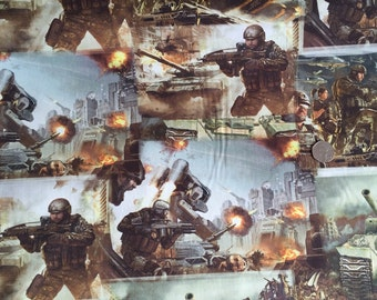 Call Of Duty Army Game Style 100% Digital Cotton Half Metre
