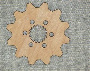 "12"" Wood Wooden COG Gear Sprocket Steampunk Wall Art Decor #23"