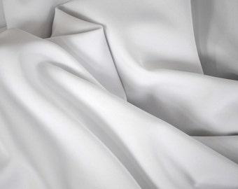 "White Polyester Fabric | White Fabric Yardage | Fabric By The Yard 58""/60"""