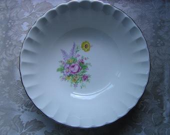 "W. S. George Bolero ""Smart Flowers"" Serving Bowl"
