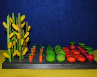 Vegetables - Vegetables toys - Garden toy - Plant toy - mixed vegetables - carrots toy-cabbage toy -pumpkin-corn