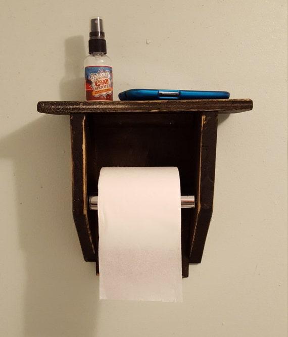 toilet paper holder toilet paper shelf rustic by creativemarc. Black Bedroom Furniture Sets. Home Design Ideas