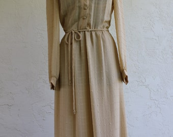1960s Women's Long Sleeve Dress