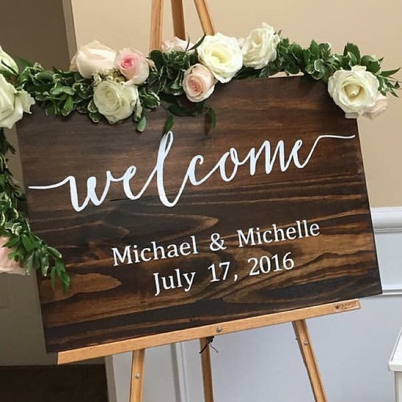 Etsy Wedding Signs: Welcome To Our Wedding Wood Sign Wedding Sign By