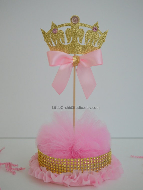 princess party pink and gold centerpieces baby girl shower on etsy