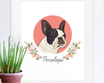 Pet Portraits, custom pet portrait, unique gifts, funny gifts, family portrait, pet memorial, dog art, custom pet print, custom pet poster