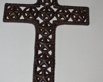 Rustic Iron Cross With Stars