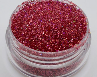 Medium Pink Holographic Glitter for Nail Art - 1 Pot approx. 3g