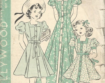 1940s Hollywood 1600 - Size 14 - Perfect for Re-sizing, Re-Purposing & Crafting!