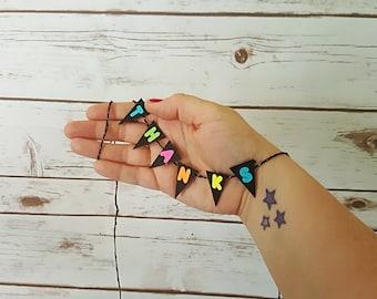 Mini Fluorescent Triangle Garland